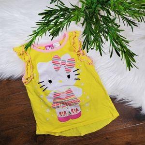Hello Kitty Tank Top   sz 2T   yellow   pink   whi